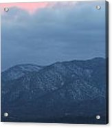 Mingus Mountain Sunset Dec 08 2013 C Acrylic Print