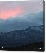 Mingus Mountain Sunset Dec 08 2013 D Acrylic Print