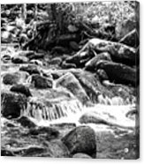 Mini Cascades Smoky Mountains Bw Acrylic Print