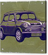 Mini Cooper - Car Art Sketch Poster Acrylic Print