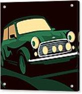 Mini Cooper Green Acrylic Print