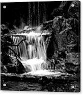 Mini Falls Black And White Acrylic Print