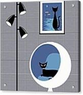 Mini Space Cat Acrylic Print