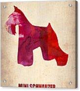 Miniature Schnauzer Poster Acrylic Print by Naxart Studio