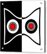 Minimalist Art Geometric Black White Red Abstract Print No.50. Acrylic Print