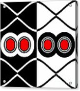 Minimalism Geometric Art Black White Red Abstract Print No.83. Acrylic Print by Drinka Mercep