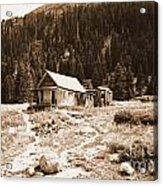 Mining House In Black And White Acrylic Print