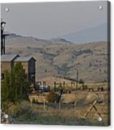 Mining In Butte Acrylic Print
