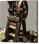 Mining Portable Stamp Mill Acrylic Print by Daniel Hagerman