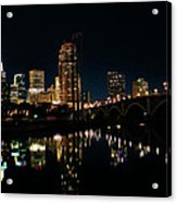 Minneapolis Night Skyline Acrylic Print