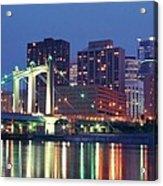 Minneapolis Skyline At Night Acrylic Print