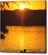 Minneapolis Sunset Love Acrylic Print