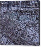 Minnehaha Falls In Fog Acrylic Print