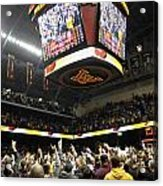 Minnesota Fans Celebrate Victory At Williams Arena Acrylic Print