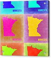 Minnesota Pop Art Map 2 Acrylic Print