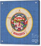 Minnesota State Flag Acrylic Print by Pixel Chimp