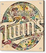 Minnesota Twins Poster Vintage Acrylic Print
