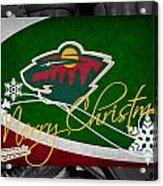 Minnesota Wild Christmas Acrylic Print