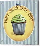 Mint Chocolate Chip Cupcake Acrylic Print by Catherine Holman