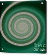 Mint Green Swirl Acrylic Print