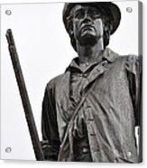 Minute Man Statue Concord Massachusetts Acrylic Print