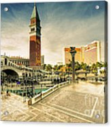 Mirage And The Venitian  Acrylic Print