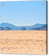 Mirage In The Death Valley Acrylic Print