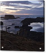 Mirror At Glass Beach Acrylic Print