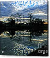 Mirror Image Clouds Acrylic Print by Jinx Farmer
