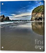 Mirror In The Sand Acrylic Print