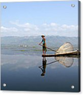 Mirror Inle Lake Acrylic Print