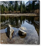 Mirror Lake Threesome 3 Yosemite Acrylic Print