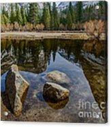 Mirror Lake Threesome Yosemite Acrylic Print