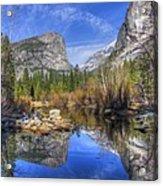 Mirror Lake Yosemite Autumn Acrylic Print