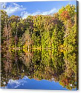 Mirror Reflections Of Fall Acrylic Print