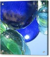 Mirrored Marbles Acrylic Print