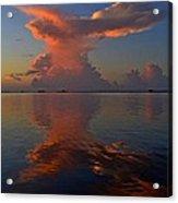 Mirrored Thunderstorm Over Navarre Beach At Sunrise On Sound Acrylic Print
