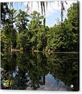 Mirrow Lake - Magnolia Gardens Acrylic Print