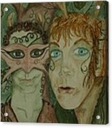 Mischief Acrylic Print by Carrie Viscome Skinner