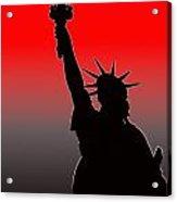 Miss Liberty Abstract Acrylic Print