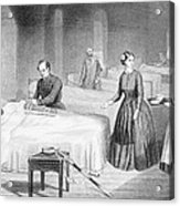 Miss Nightingale In The Hospital Acrylic Print