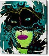 Miss Peacock Acrylic Print