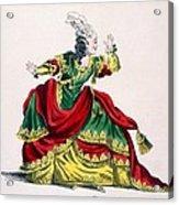 Miss Sainval As Zenobie In Zenobie Acrylic Print