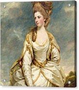 Miss Sarah Campbell Acrylic Print by Sir Joshua Reynolds