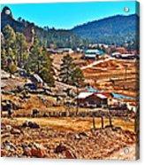 Mission Cusarare Tarahumara Village In Chihuahua-mexico  Acrylic Print