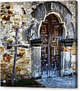 Mission Espada Entrance Acrylic Print