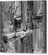 Mission Espada - Wooden Cross - Bw Acrylic Print