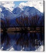 Mission Mountains Montana Acrylic Print by Thomas R Fletcher