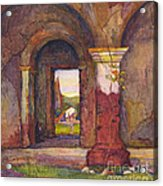 Mission Of San Juan Capistrano By Rowena Meeks Abdy 1887-1945  Acrylic Print