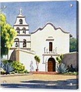 Mission San Diego De Alcala Acrylic Print by Mary Helmreich